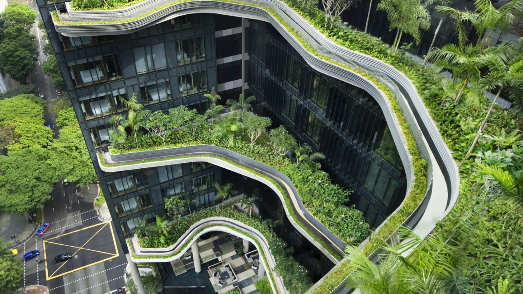 The Parkroyal Hotel Doubles as Urban Jungle