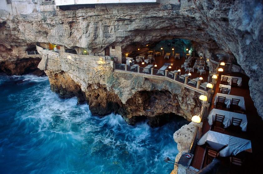 AXBCM2 Restaurant Grotta, Palazzese, Polignano a Mare, Puglia, Italy