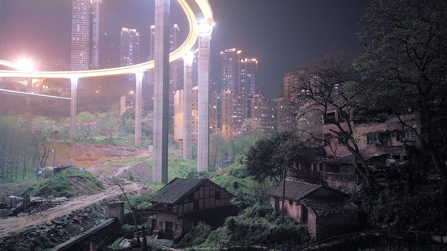 Underneath the Mini Caiyuanba Bridge in China