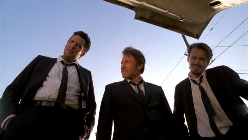 Michael Madsen, Harvey Keitel, and Steve Buscemi in 'Reservoir Dogs' (Miramax Films)
