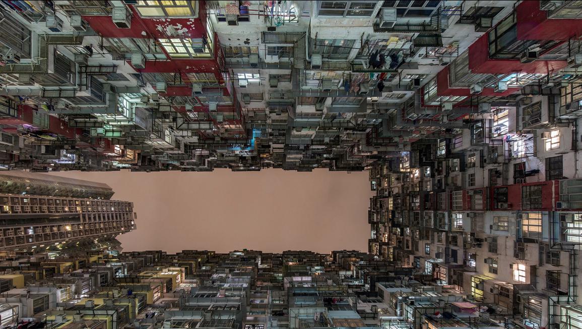 Looking Upward in Hong Kong