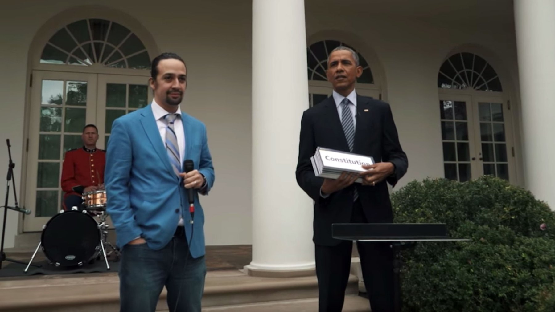 Pulitzer Prize Winner Lin-Manuel Miranda Rapping at the White House