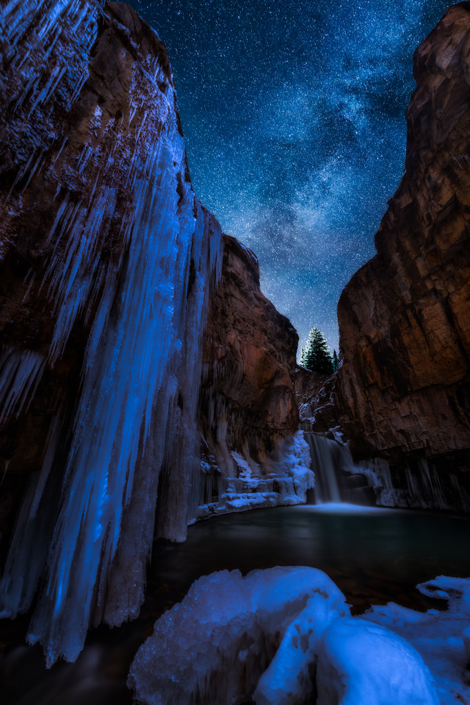 Cascade Falls in Rocky Mountain National Park
