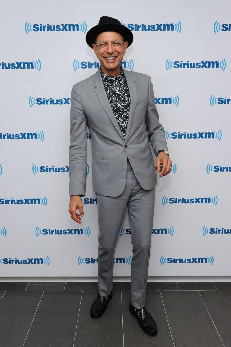 NEW YORK, NY - SEPTEMBER 12:  Jeff Goldblum visits at SiriusXM Studios on September 12, 2014 in New York City.  (Photo by Rommel Demano/Getty Images)