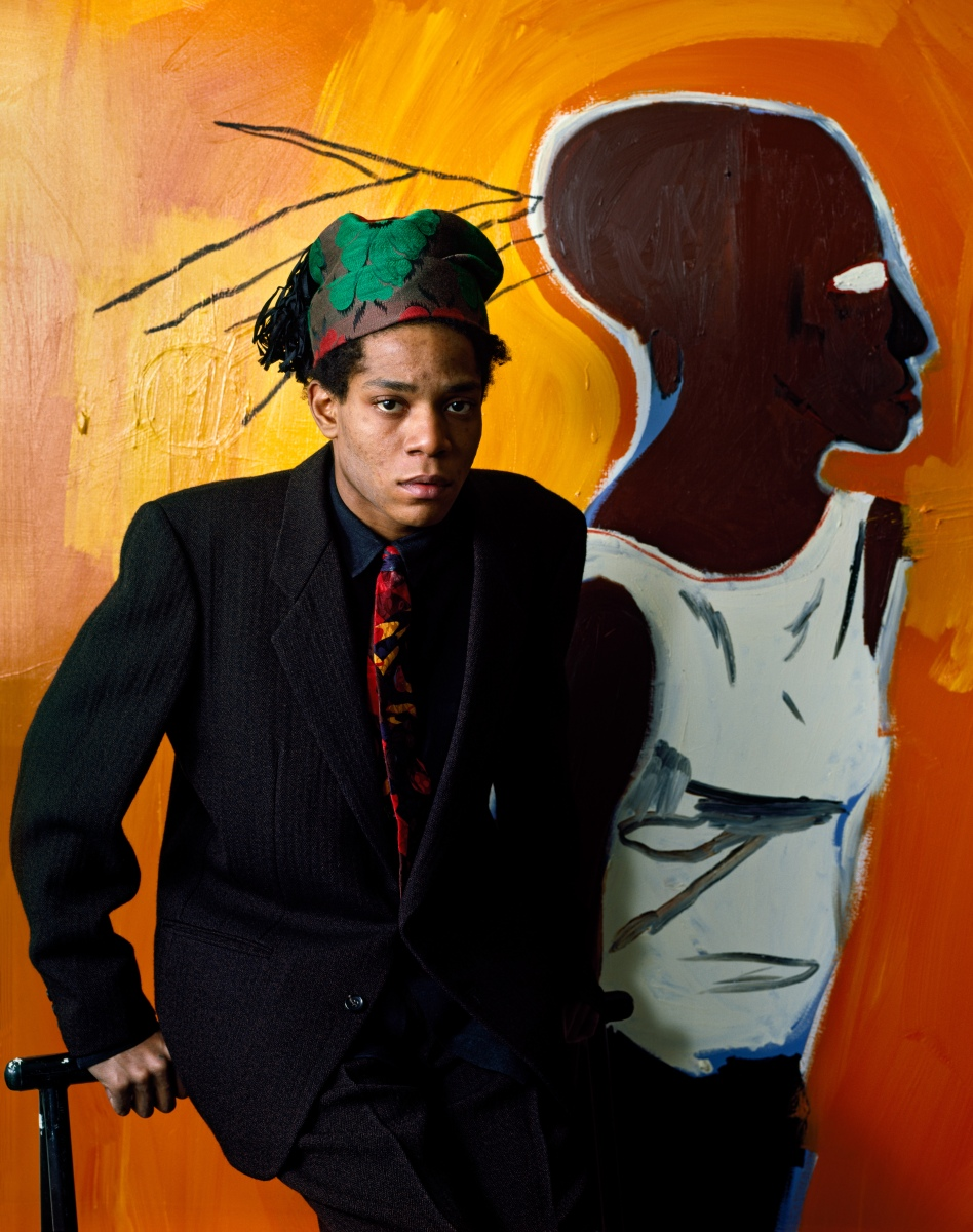 American artist Jean-Michel Basquiat (1960 - 1988), New York, 1985. (Photo by Evelyn Hofer/Getty Images)