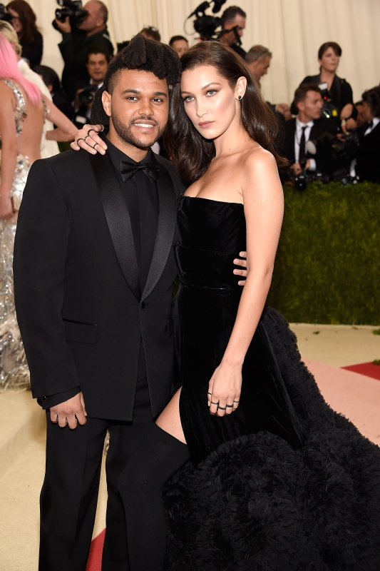 Artist The Weeknd and Model Bella Hadid (Kevin Mazur/WireImage)
