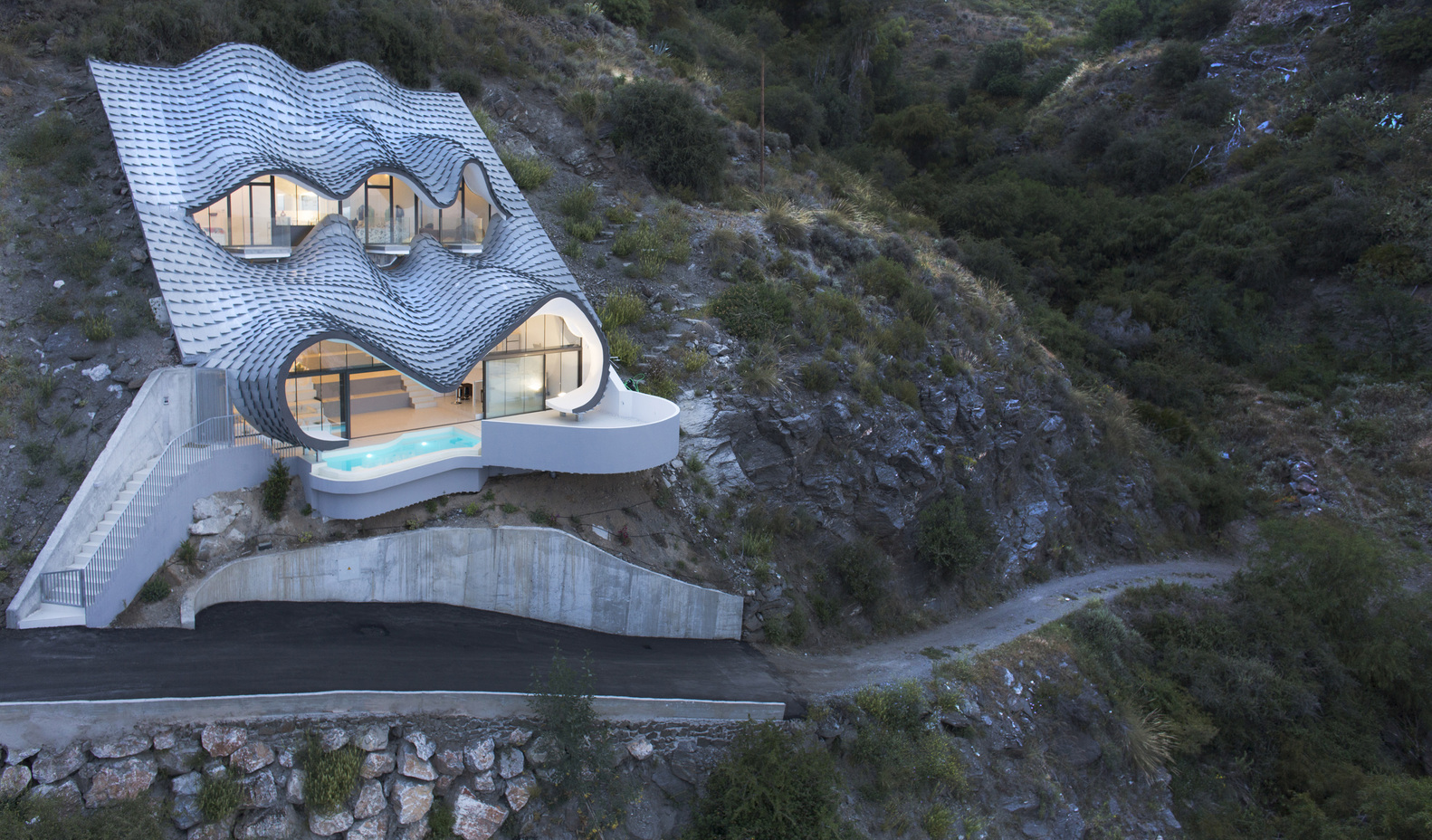 Cliffside House in Spain Inspired by Artist Gaudí