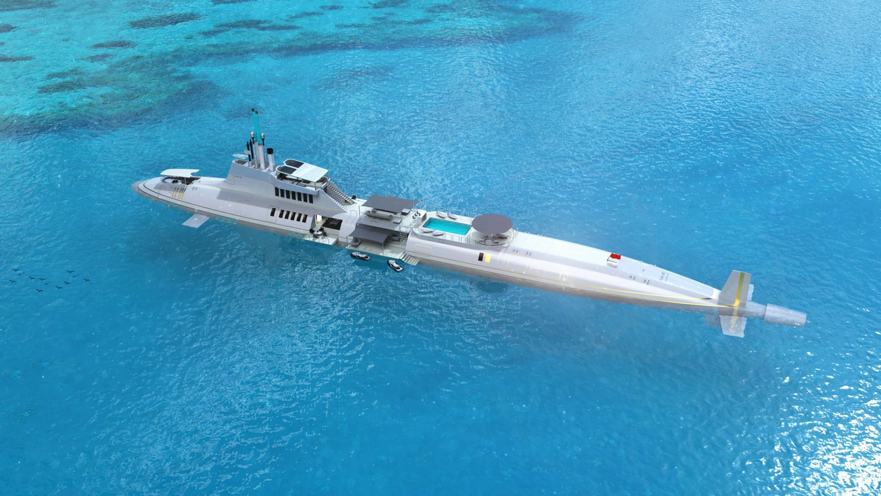 This Submersible Yacht Comes With Luxury Amenities