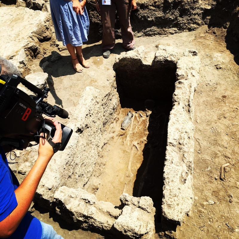 The recently discovered tomb (Pompeii Archeological Site Press Office via AP)