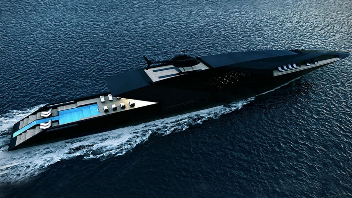 Fly Through the High Seas in the Stealth-Like Superyacht