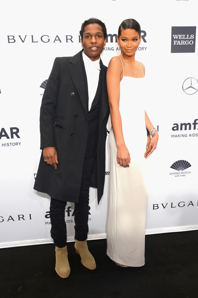 A$AP Rocky and Chanel Iman attend the 2014 amfAR New York Gala at Cipriani Wall Street on February 5, 2014 in New York City. (Photo by Michael Loccisano/Getty Images)