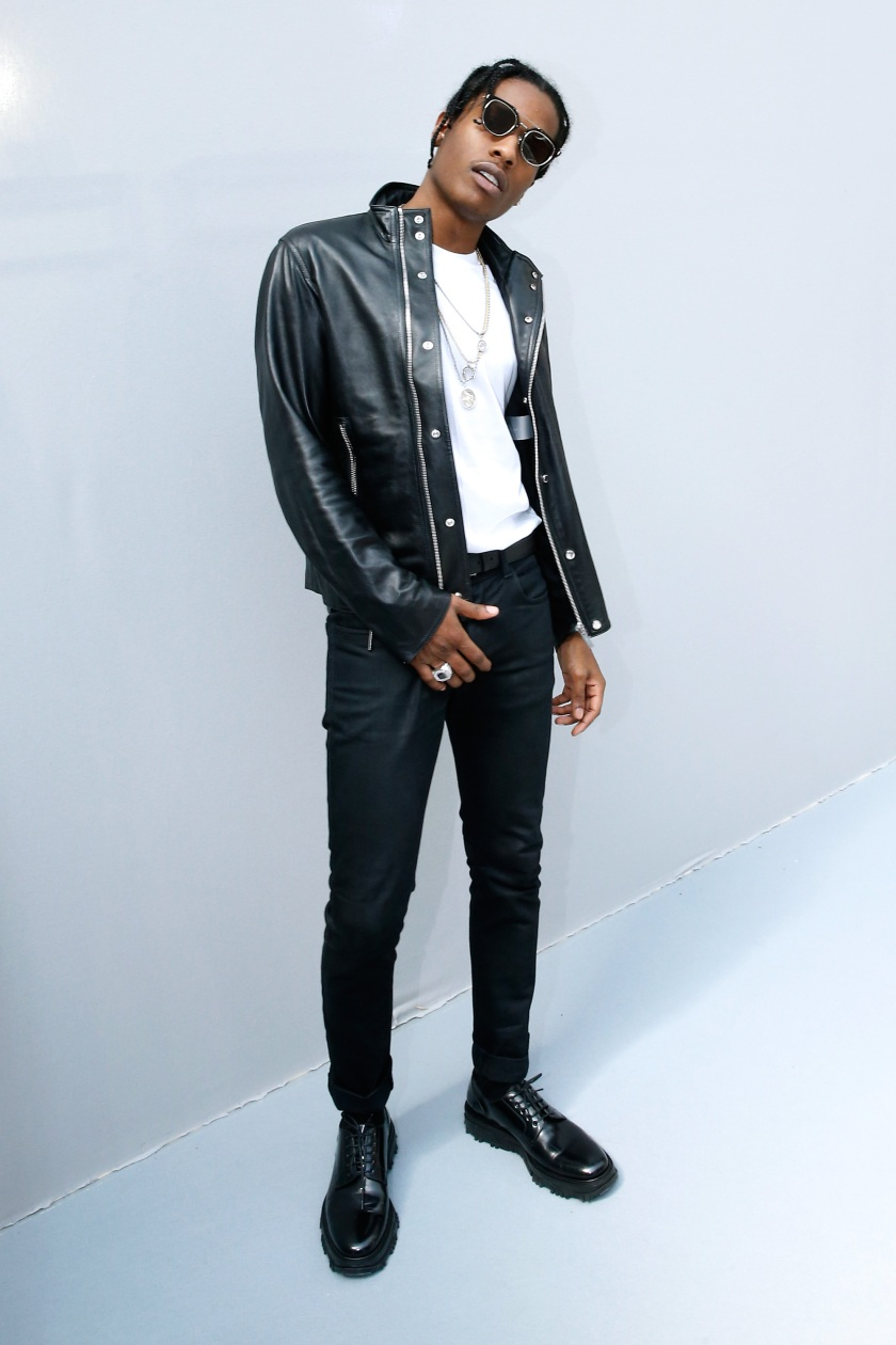 Rapper ASAP Rocky poses Backstage after the Dior Homme Menswear Spring/Summer 2016 show as part of Paris Fashion Week on June 27, 2015. (Bertrand Rindoff Petroff/Getty Images)
