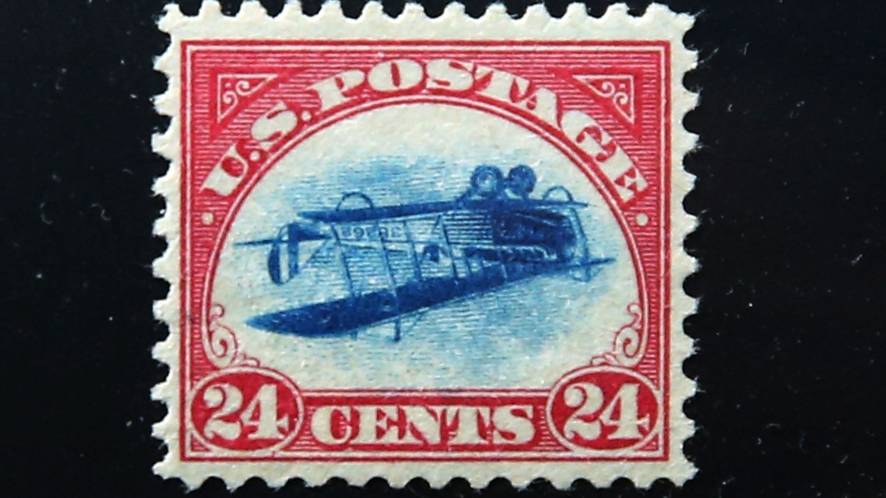 "A rare stamp known as an ""Inverted Jenny"" (Spencer Platt/Getty Images)"