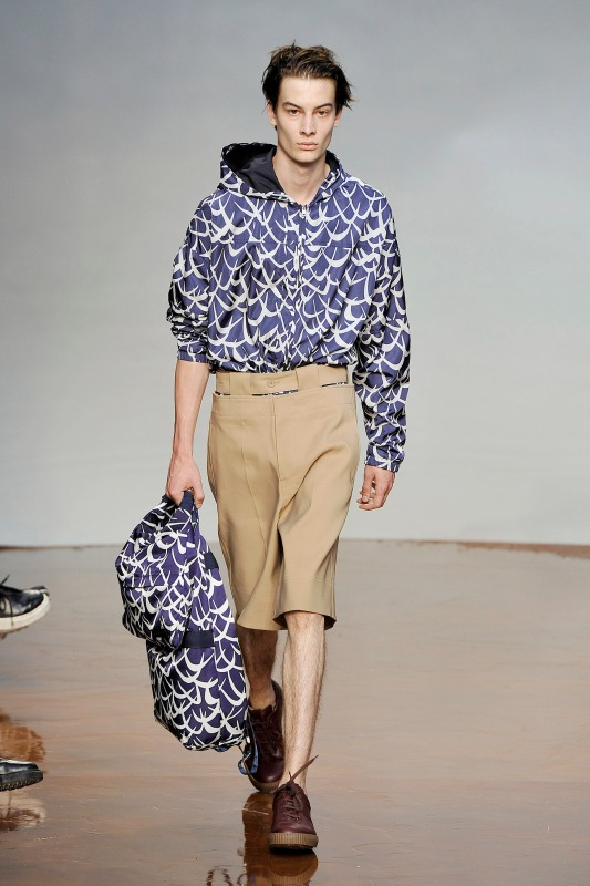A model walks the runway at the Marni Spring Summer 2017 fashion show during Milan Menswear Fashion Week. (Catwalking/Getty Images)
