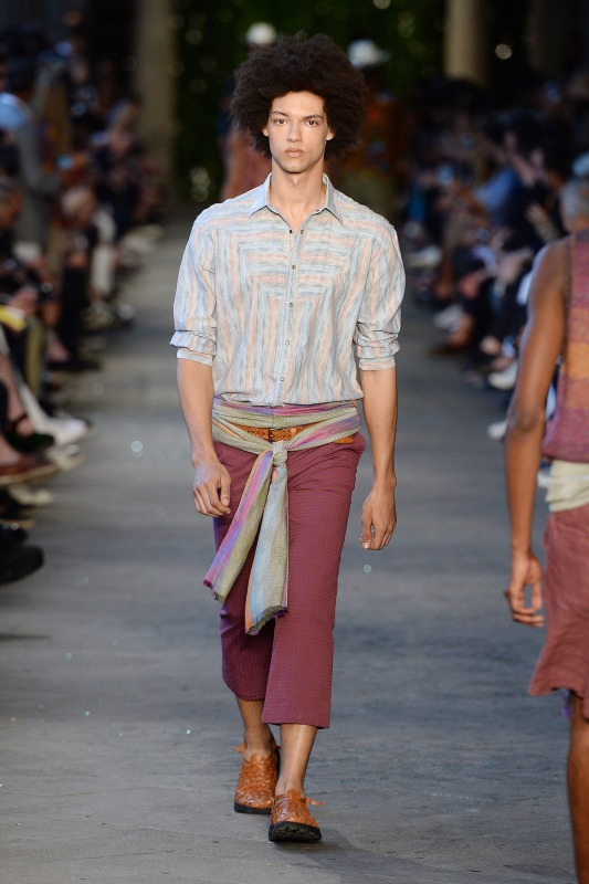 A model walks the runway at the Missoni Spring Summer 2017 fashion show during Milan Menswear Fashion Week on June 19, 2016 in Milan, Italy. (Catwalking/Getty Images)