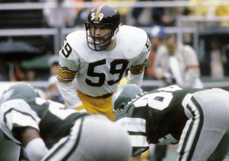 PHILADELPHIA, PA - SEPTEMBER 30, 1979: Linebacker Jack Ham #59 of the Pittsburgh Steelers in action against the Philadelphia Eagles during an NFL football game September 30, 1979 at Veterans Stadium in Philadelphia, Pennsylvania. Ham played for the Steelers from 1971-82. (Photo by Focus on Sport/Getty Images)