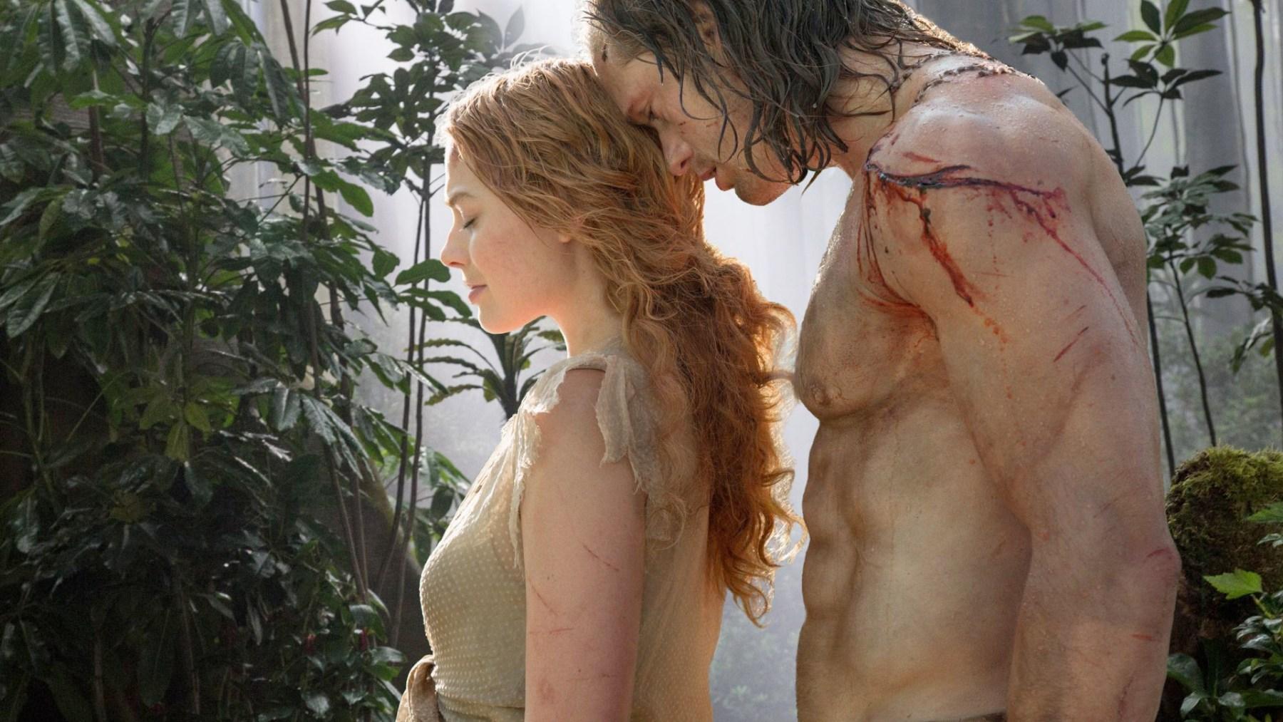 Margot Robbie stars as Jane with Alexander Skarsgard as Tarzan in the latest rendition, called 'The Legend of Tarzan.' (Courtesy Warner Bros.)