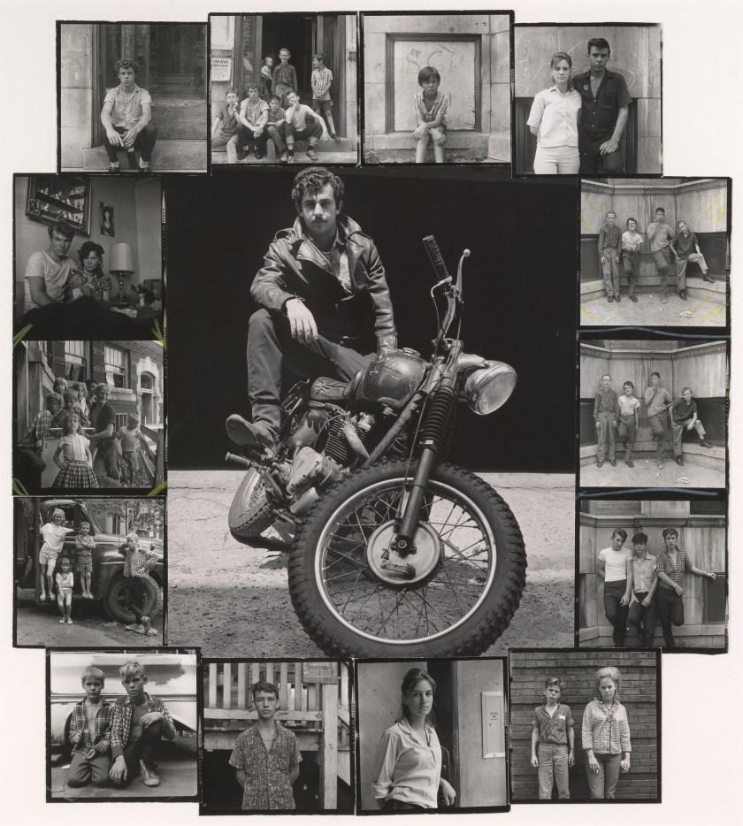 """""""Self-portrait, Chicago,"""" 1965. Gelatin silver prints montage. (Danny Lyon, courtesy Edwynn Houk Gallery, New York)"""