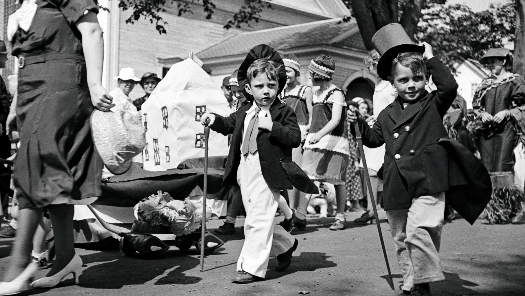 Parade at the fair in Albany, Vermont during September 1936. (Carl Mydans; Prints and Photographs Division, Library of Congress, Washington, D. C.)