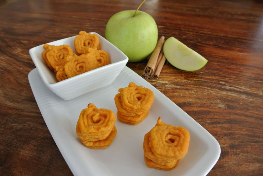 3-d printed hash browns made with sweet potato and apple (Natural Machines)