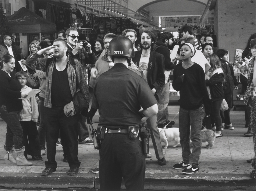 """Occupy Demonstration on Broadway, Los Angeles,"" 2011. Digital inkjet print. (Danny Lyon, courtesy Edwynn Houk Gallery, New York)"