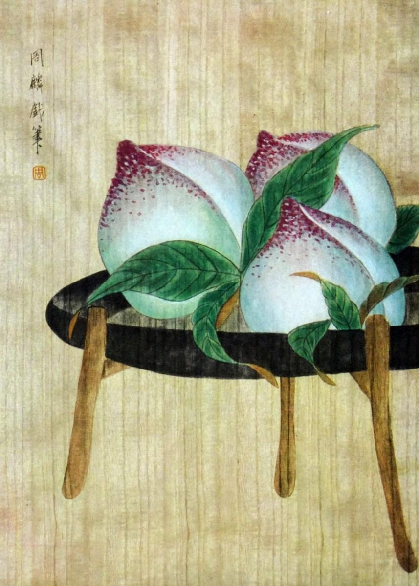 Asian Peaches Art