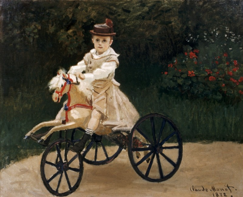 Jean Monet (1867-1913) on His Hobby Horse by Claude Monet (Photo by Barney Burstein/Corbis/VCG via Getty Images)