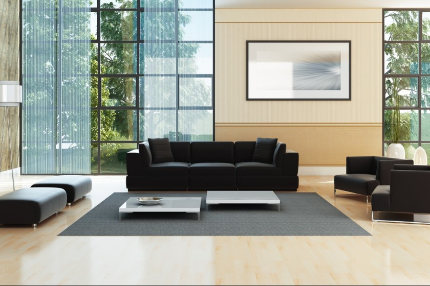 Modern luxury penthouse interior living room. CLICK FOR EXTRA BIG PREVIEW !!!