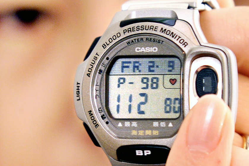 Casio's BP-1DJ was one the first watches to monitor blood pressure and heart rate (Kazuhiro Nogi/AFP/Getty Images)