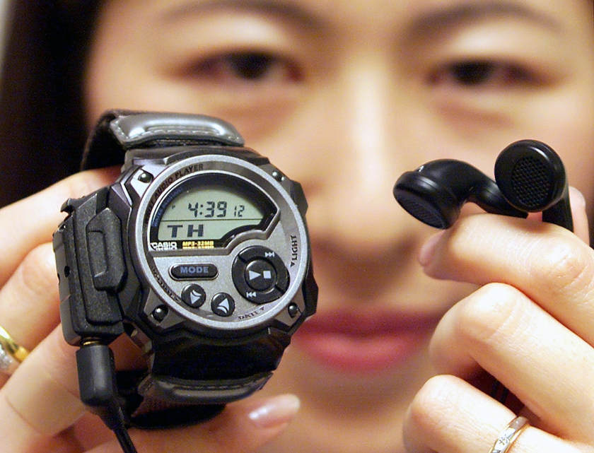 The WMP-1 was the first timepiece to be hold MP3 files. It could play 33 minutes of music.(Kazuhiro Nogi/AFP/Getty Images)