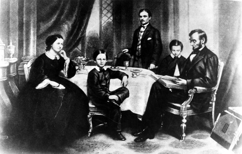 President Abraham Lincoln and his family in 1861. (UIG via Getty Images)