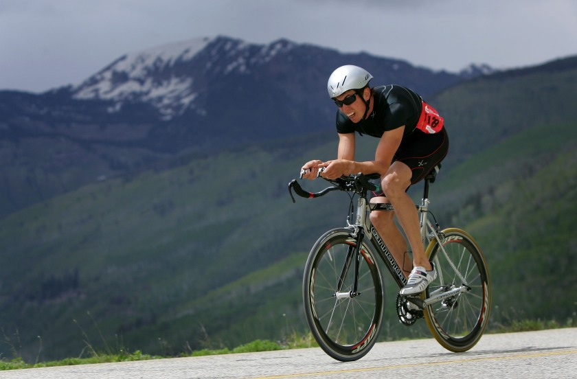 Josiah Middaugh climbs Vail Pass during the Trek Hill Climb as he went on to win the Men's Ultimate Mountain Challenge during the Teva Mountain Games June 3, 2007 in Vail, Colorado. (Doug Pensinger/Getty Images)