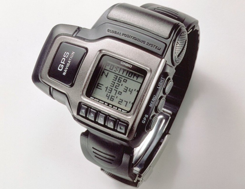 Released in 1999, the PRT-1GP was the first watch ever to have built-in GPS (Getty Images)