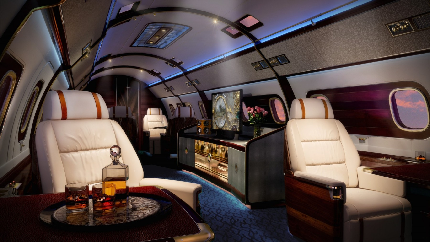 Head-Turning Private Aircraft Interiors