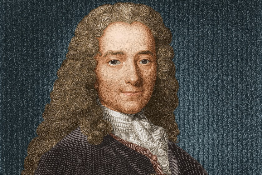 Circa 1740, Portrait of Voltaire (1694-1778). French writer and philosopher. Born Francois-Marie Arouet, a brilliant wit, his histories 'Henry IV' and 'Louis XIV' and political writings 'Philosophical Letters' and 'Philosophical Dictionary' made him famous, His 'Cand (Photo by Stock Montage/Getty Images)