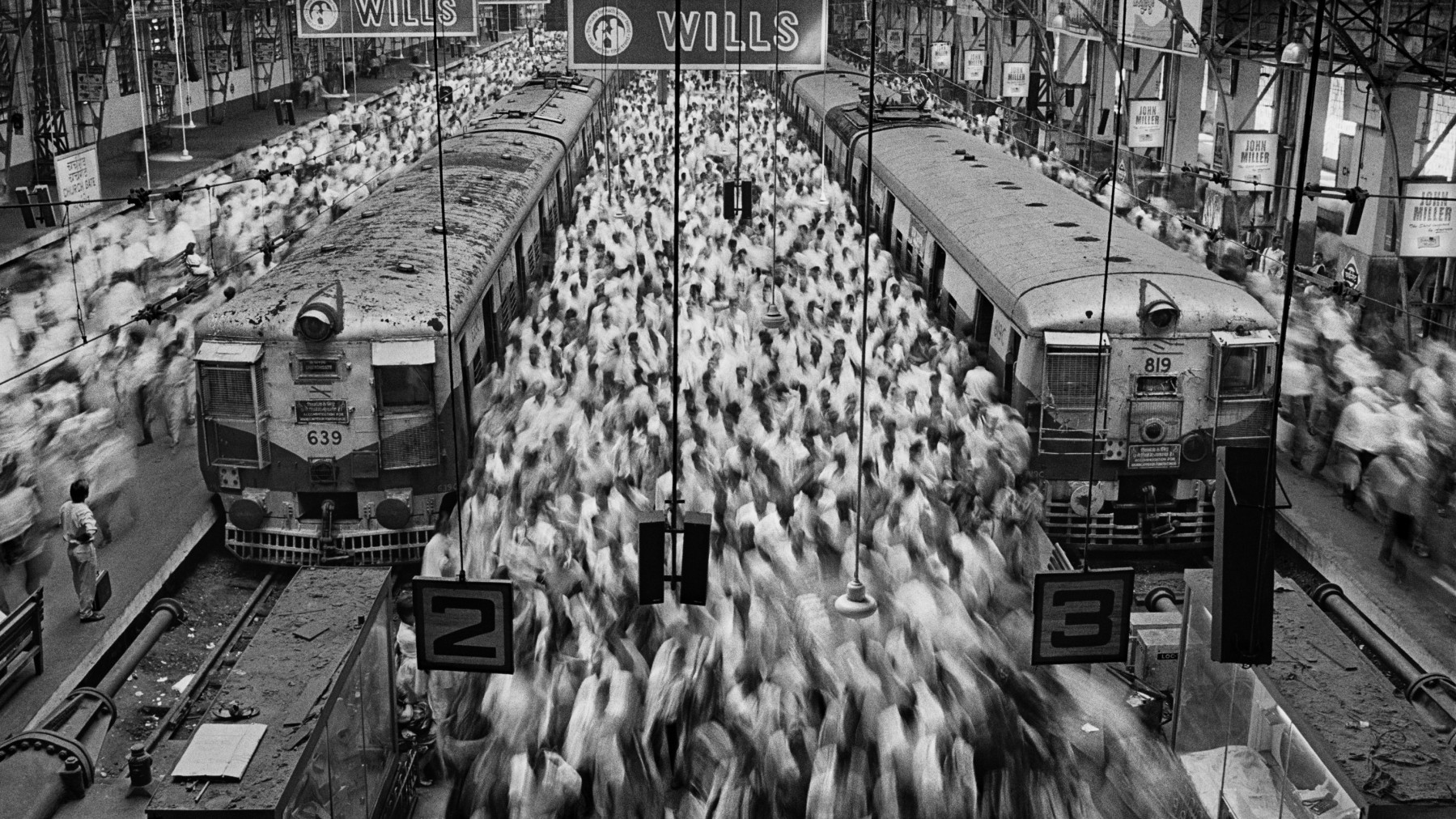 Church Gate Station in Bombay, India during 1995. (Sebastião Salgado/Amazonas Images)