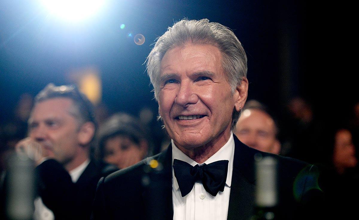 Harrison Ford attends the 2015 Jaguar Land Rover British Academy Britannia Awards. (Photo by Kevork Djansezian/BAFTA LA/Getty Images for BAFTA LA)