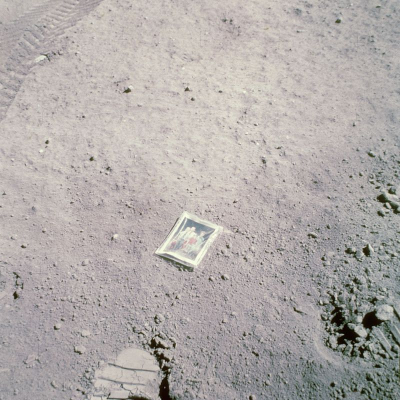Astronaut Charles Moss Duke, Jr. leaves a photograph of his family on the surface of the moon during the Apollo 16 lunar landing mission, 23rd April 1972. (Photo by Space Frontiers/Getty Images)