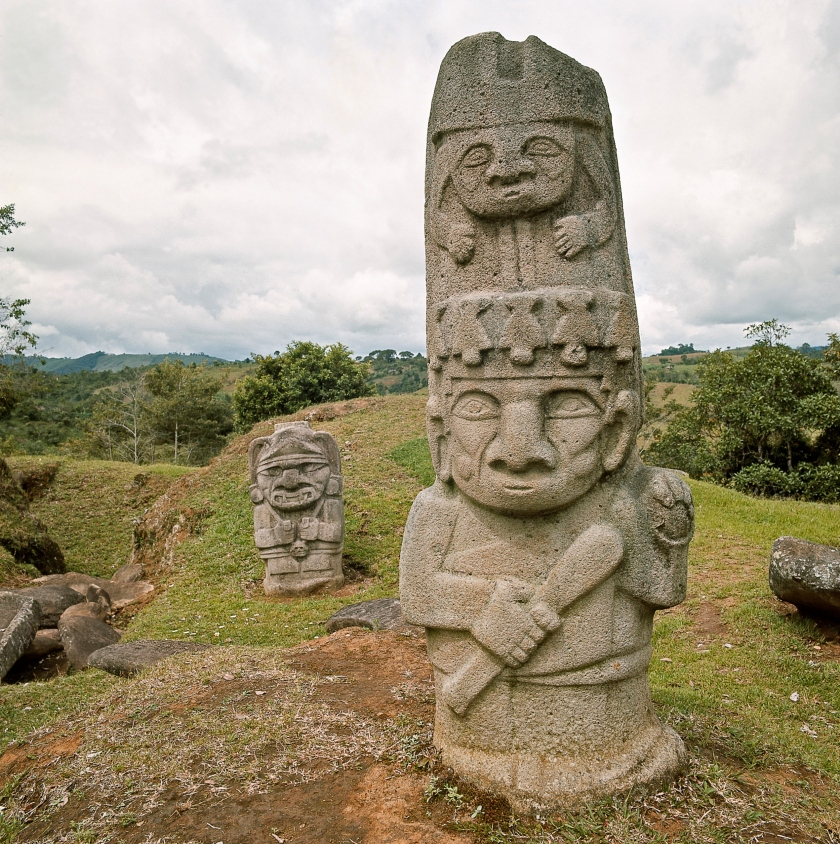 Pre-Columbian stone statues in the 'Forest of Statues' in San Agustin National Archaeological Park in Huila, Colombia (Getty Images)