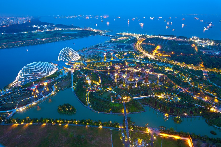 A 45-minute helicopter ride will provide stunning views of Singapore (Seng Chye Teo/Moment Open/Getty Images)