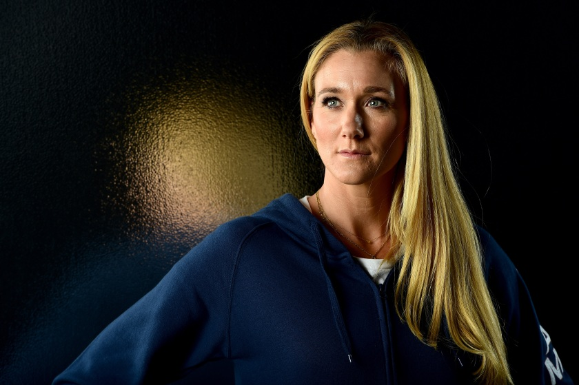 LOS ANGELES, CA - NOVEMBER 17: Beach volleyball player Kerri Walsh Jennings poses for a portrait at the USOC Rio Olympics Shoot at Quixote Studios on November 17, 2015 in Los Angeles, California. (Photo by Harry How/Getty Images)