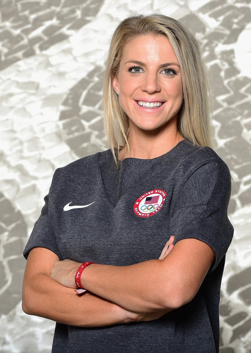 LOS ANGELES, CA - NOVEMBER 17:  Soccer player Julie Johnston poses for a portrait at the USOC Rio Olympics Shoot at Quixote Studios on November 17, 2015 in Los Angeles, California.  (Photo by Harry How/Getty Images)