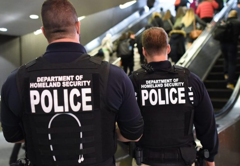 """US Department of Homeland Security police walk through Penn Station on November 24, 2015 in New York. After a string of terror attacks in several countries, the US government issued a worldwide travel alert warning American citizens of """"increased terrorist threats"""". AFP PHOTO / TIMOTHY A. CLARY / AFP / TIMOTHY A. CLARY (Photo credit should read TIMOTHY A. CLARY/AFP/Getty Images)"""