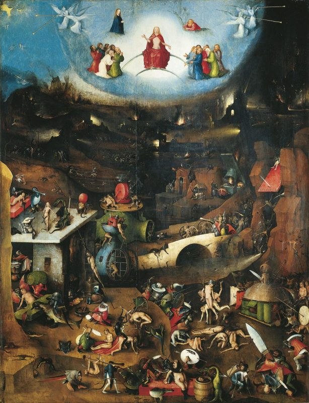UNSPECIFIED - CIRCA 1986: Hieronymus Bosch (1450-1516), Last Judgement, triptych. (Photo By DEA / G. NIMATALLAH/De Agostini/Getty Images)