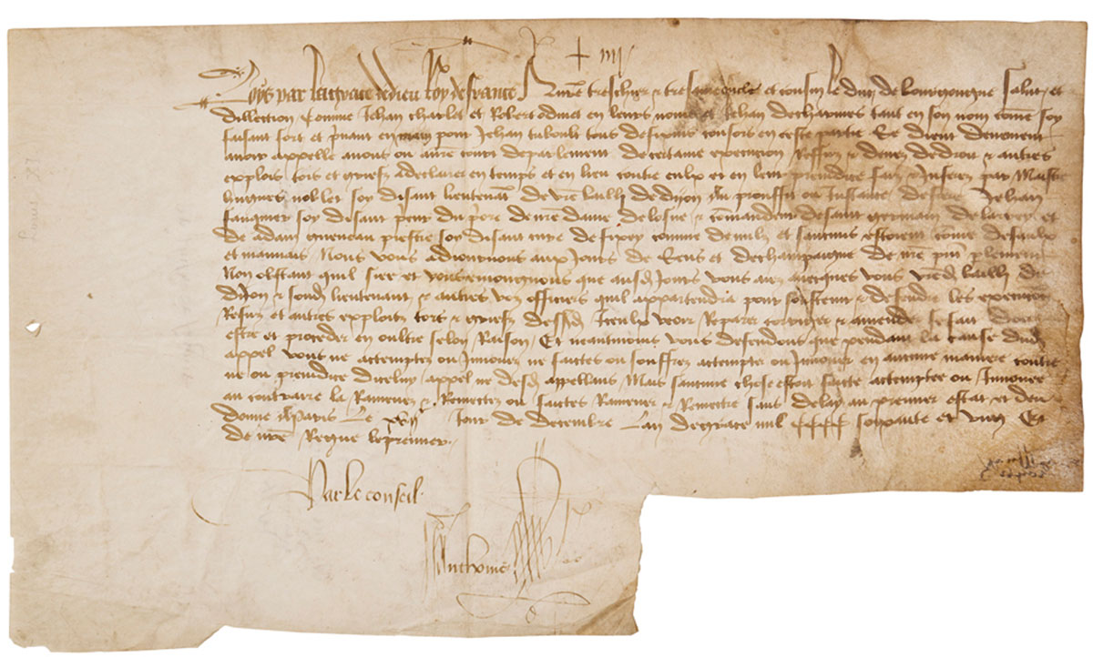 Louis XI Document