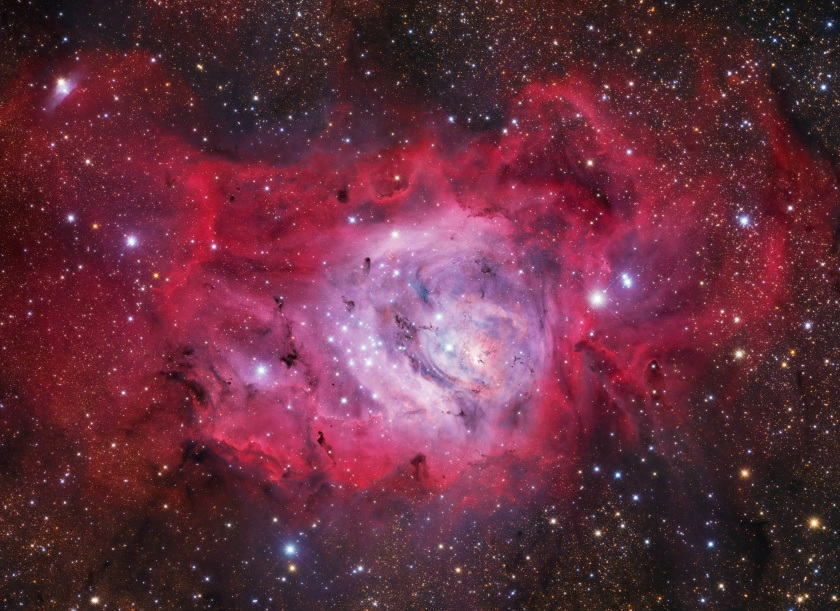 New stars are formed in the undulating clouds of M8, also commonly referred to as the Lagoon Nebula, situated some 5,000 light years from our planet. (Ivan Eder)