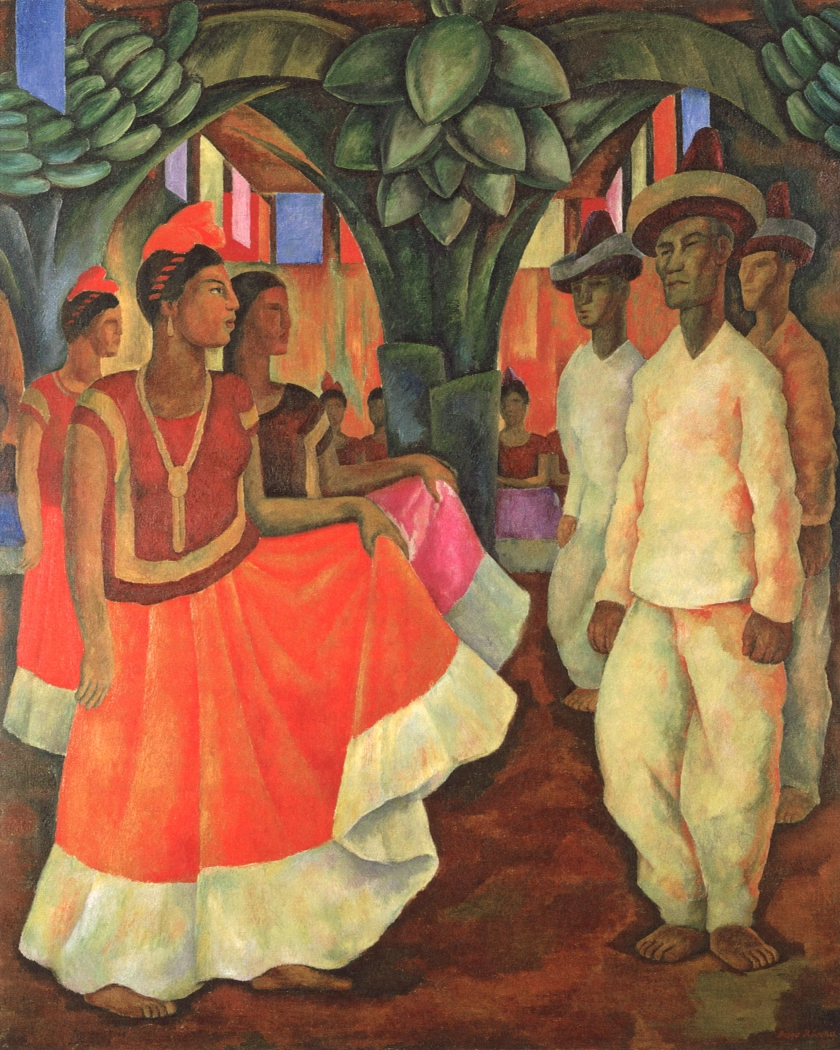 Dance in Tehuantepec, 1928, by Diego Rivera (Banco de México Diego Rivera Frida Kahlo Museums Trust, Mexico, D.F./Artists Rights Society (ARS), New York)