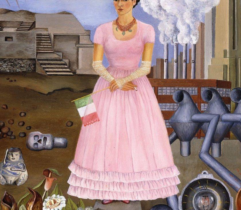 Self-Portrait on the Border Line Between Mexico and the United States, 1932, by Frida Kahlo (Banco de México Diego Rivera Frida Kahlo Museums Trust, Mexico, D.F./Artists Rights Society (ARS), New York)