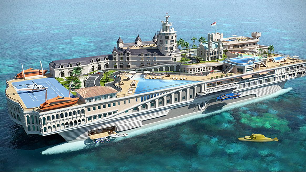 This $1 Billion Superyacht Is a Floating Replica of Monaco