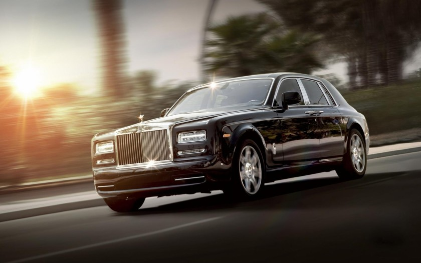 A chaffeured drive in a Rolls-Royce follows your 45-minute helicopter tour